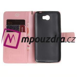 Dandelion PU kožené pouzdro na Huawei Y5 II - růžové - 7