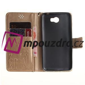 Dandelion PU kožené pouzdro na Huawei Y5 II - zlaté - 7