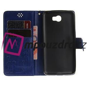 Dandelion PU kožené pouzdro na Huawei Y5 II - modré - 7