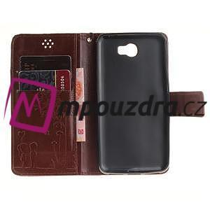 Dandelion PU kožené pouzdro na Huawei Y5 II - hnědé - 7