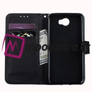 Motýlí peněženkové pouzdro na Huawei Y5 II - černé - 7