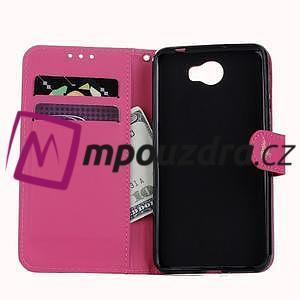 Motýlí peněženkové pouzdro na Huawei Y5 II - rose - 7