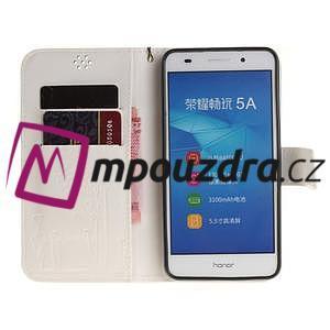 Dandelion PU kožené pouzdro na Huawei Y6 II a Honor 5A - bílé - 7