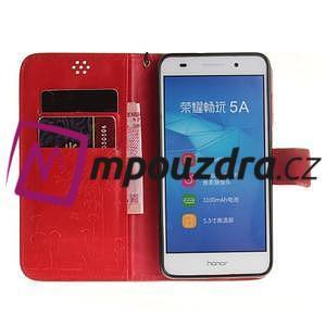 Dandelion PU kožené pouzdro na Huawei Y6 II a Honor 5A - červené - 7