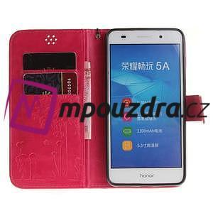Dandelion PU kožené pouzdro na Huawei Y6 II a Honor 5A - rose - 7