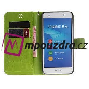 Dandelion PU kožené pouzdro na Huawei Y6 II a Honor 5A - zelené - 7