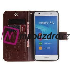 Dandelion PU kožené pouzdro na Huawei Y6 II a Honor 5A - hnědé - 7