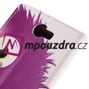 Emotive peněženkové pouzdro na Huawei Y6 II Compact - fialová příšera - 7