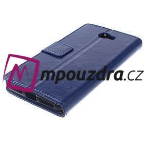 Horses PU kožené pouzdro na Huawei Y6 II Compact - modré - 7