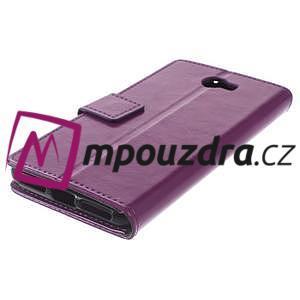 Horses PU kožené pouzdro na Huawei Y6 II Compact - fialové - 7