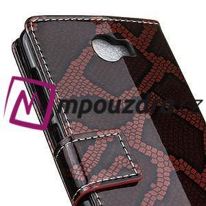 Peněženkové pouzdro s hadím motivem na Huawei Y6 II Compact - červené - 7