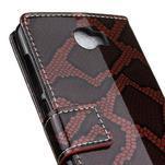 Peněženkové pouzdro s hadím motivem na Huawei Y6 II Compact - červené - 7/7