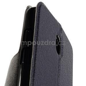Flipové PU kožené pouzdro na HTC Desire 500 - tmavě fialové - 7