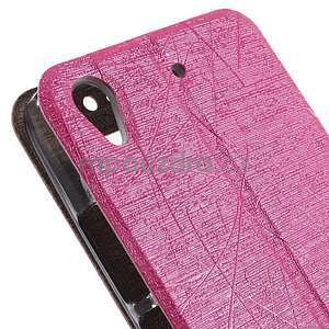 Pouzdro s okýnky na Huawei Ascend G620s - růžové - 7