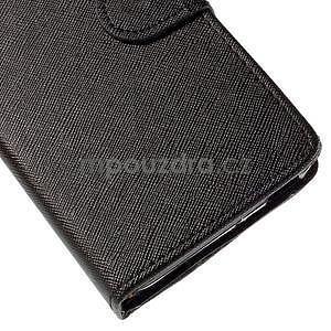 Peněženkové pouzdro na Huawei Ascend G620s - černé - 7