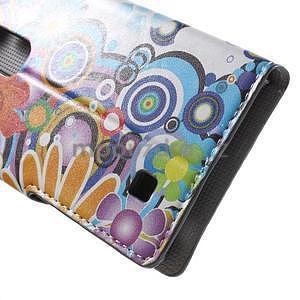 Pěněženkové pouzdro na LG G4c H525n - barevné květiny - 7