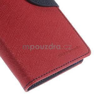 PU kožené peněženkové pouzdro na Nokia Lumia 830 - červené - 7