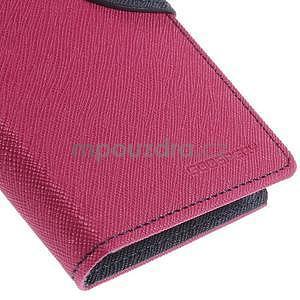 PU kožené peněženkové pouzdro na Nokia Lumia 830 - rose - 7