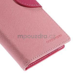 PU kožené peněženkové pouzdro na Nokia Lumia 830 - růžové - 7