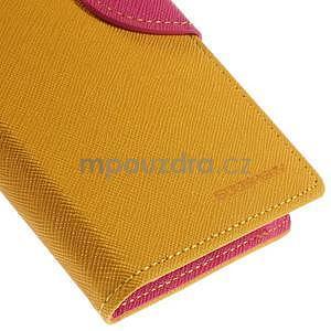 PU kožené peněženkové pouzdro na Nokia Lumia 830 - žluté - 7