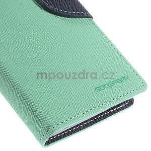 PU kožené peněženkové pouzdro na Nokia Lumia 830 - azurové - 7