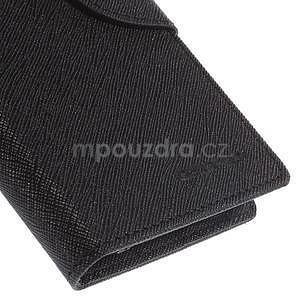 PU kožené peněženkové pouzdro na Nokia Lumia 830 - černé - 7