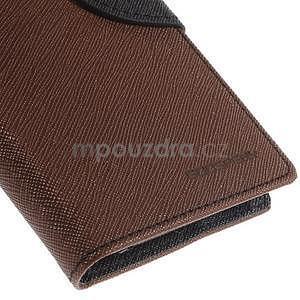PU kožené peněženkové pouzdro na Nokia Lumia 830 - hnědé/černé - 7
