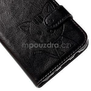 Peněženkové pouzdro s kočičkou Domi na Samsung Galaxy J5 - černé - 7