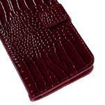 PU kožené pouzdro s imitací krokodýlí kůže Samsung Galaxy J5 - tmavě červené - 7/7