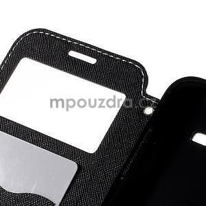PU kožené pouzdro s okýnkem pro Samsung Galaxy J5 - bílé - 7