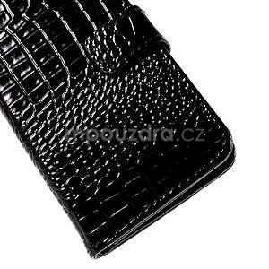 PU kožené pouzdro s imitací krokodýlí kůže Samsung Galaxy J5 - černé - 7