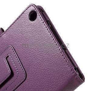 Safety koženkové pouzdro na Asus ZenPad C 7.0 Z170MG - fialové - 7