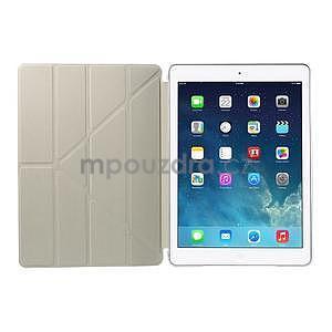Origami ochranné pouzdro na Apple iPad Air - světle modré - 7