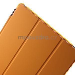 Trifold polohovatelné pouzdro na iPad Air 2 - oranžové - 7