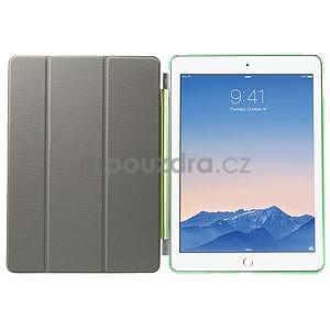 Trifold polohovatelné pouzdro na iPad Air 2 - zelené - 7