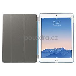 Trifold polohovatelné pouzdro na iPad Air 2 - modré - 7