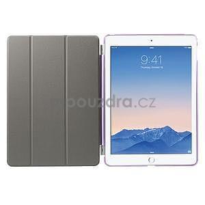 Trifold polohovatelné pouzdro na iPad Air 2 - fialové - 7