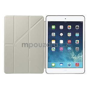 Origami ochranné pouzdro iPad Mini 3, iPad Mini 2, iPad mini - bílé - 7