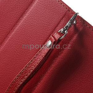 Supreme peněženkové pouzdro na Lenovo P70 - červené/hnědé - 7