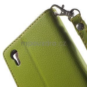 Supreme peněženkové pouzdro na Lenovo P70 - zelené/hnědé - 7
