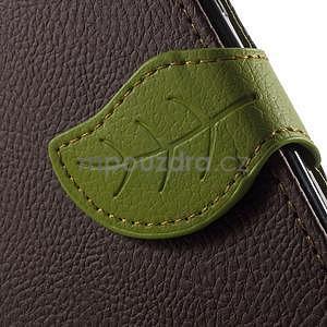 Supreme peněženkové pouzdro na Lenovo P70 - hnědé/zelené - 7
