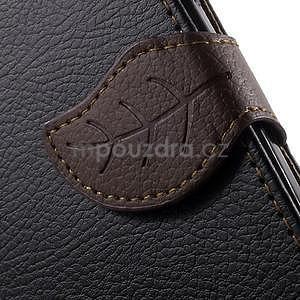 Supreme peněženkové pouzdro na Lenovo P70 - černé/hnědé - 7