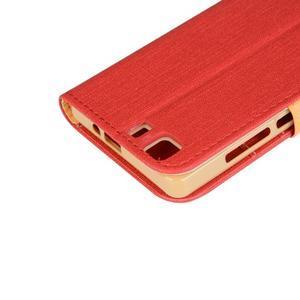 Clothy PU kožené pouzdro na mobil Doogee X5 - červené - 7