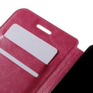 Peněženkové PU kožené pouzdro na mobil Doogee X5 - rose - 7
