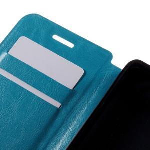 Peněženkové PU kožené pouzdro na mobil Doogee X5 - modré - 7