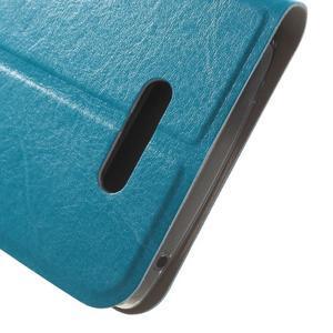 Horse peněženkové pouzdro na Lenovo A2010 - modré - 7
