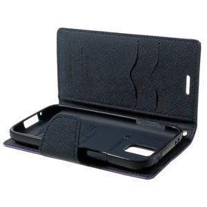 Diary PU kožené pouzdro na Samsung Galaxy S5 mini - fialové - 7