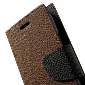 Diary PU kožené pouzdro na Samsung Galaxy S5 mini - hnědé - 7