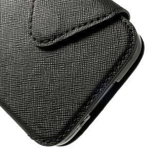 Pěněženkové pouzdro s okýnkem pro Samsung Galaxy S5 mini -  černé - 7