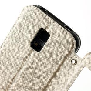 Pěněženkové pouzdro s okýnkem pro Samsung Galaxy S5 mini - bílé - 7